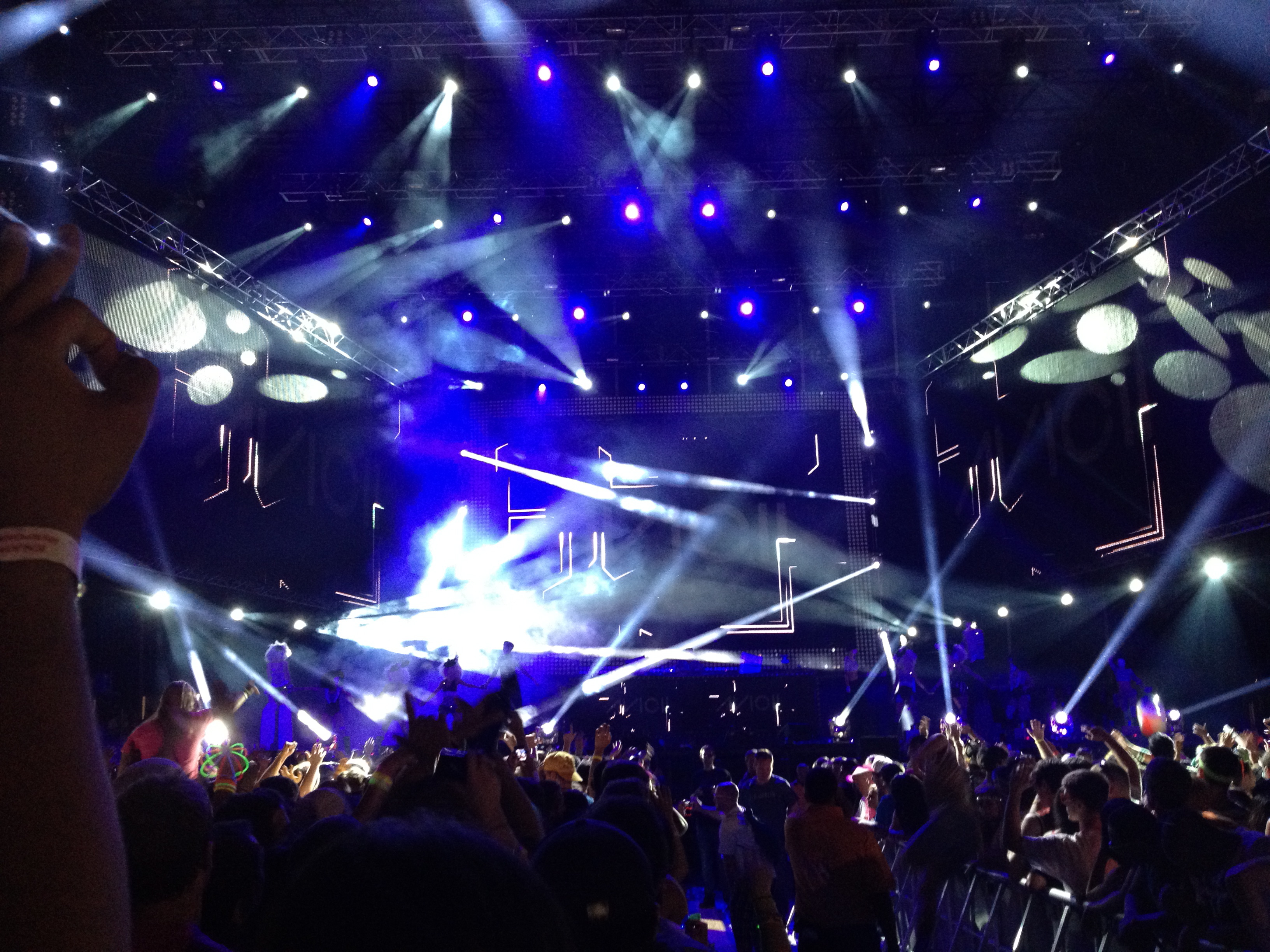 Light Show of a Stage at EDC NY