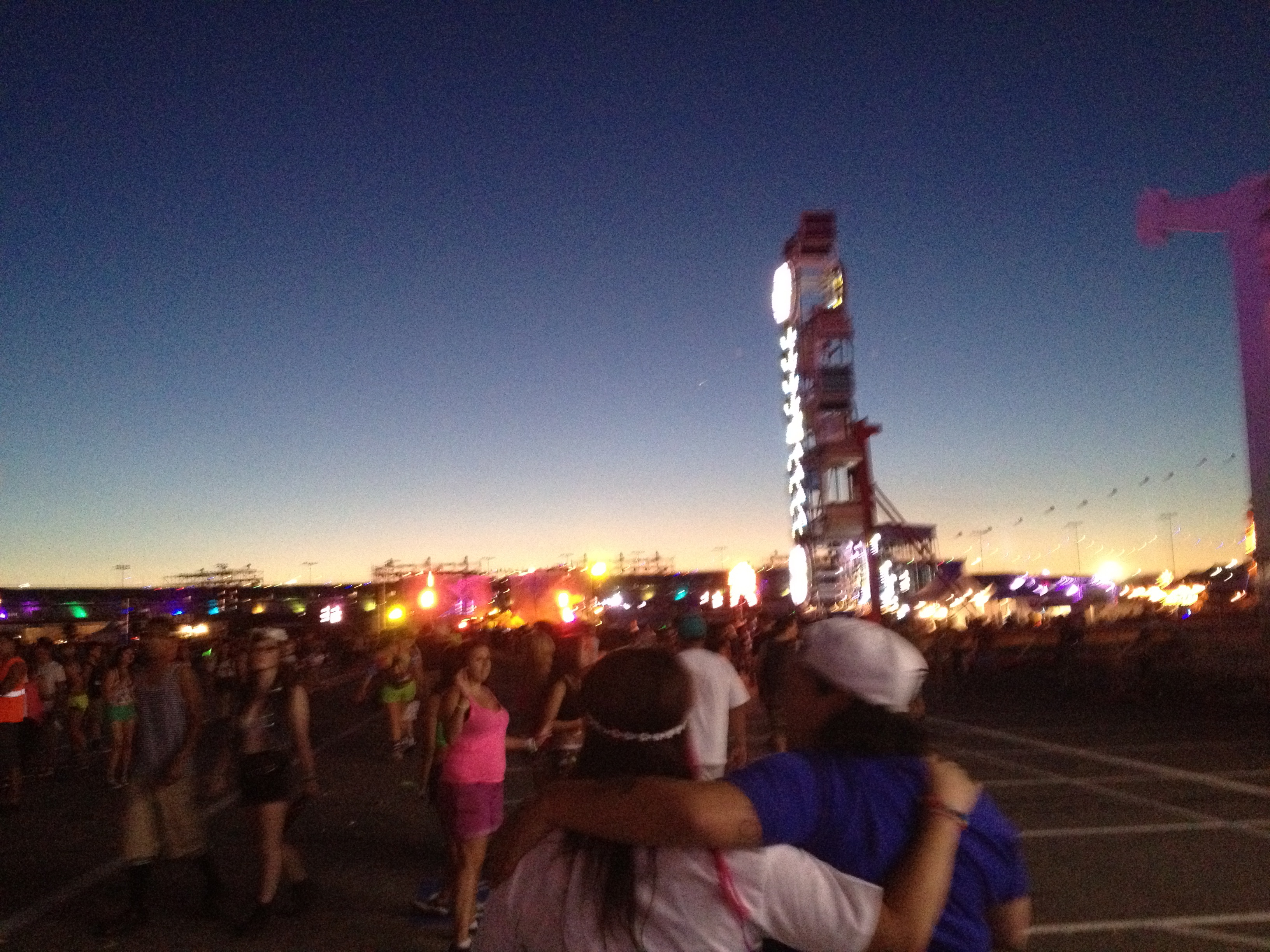 Sunrise at Electric Daisy Carnival